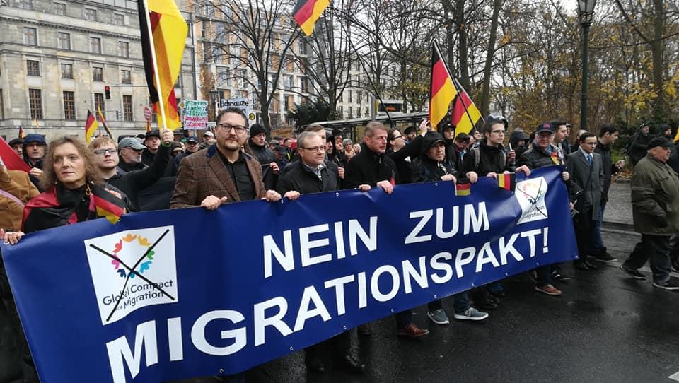 Nein zum UN-Migrationspakt - Protestmarsch Berlin