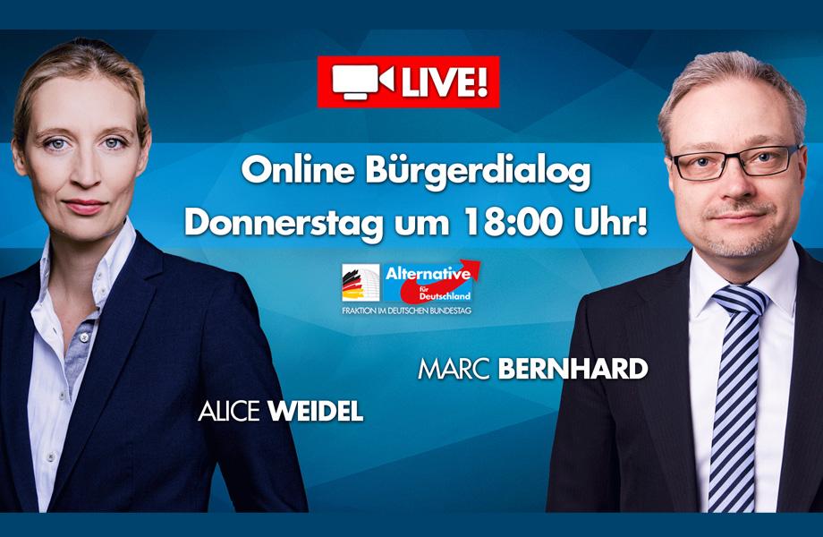 Live Online-Bürgerdialog, heute Donnerstag, 02.07.2020 um 18 Uhr!
