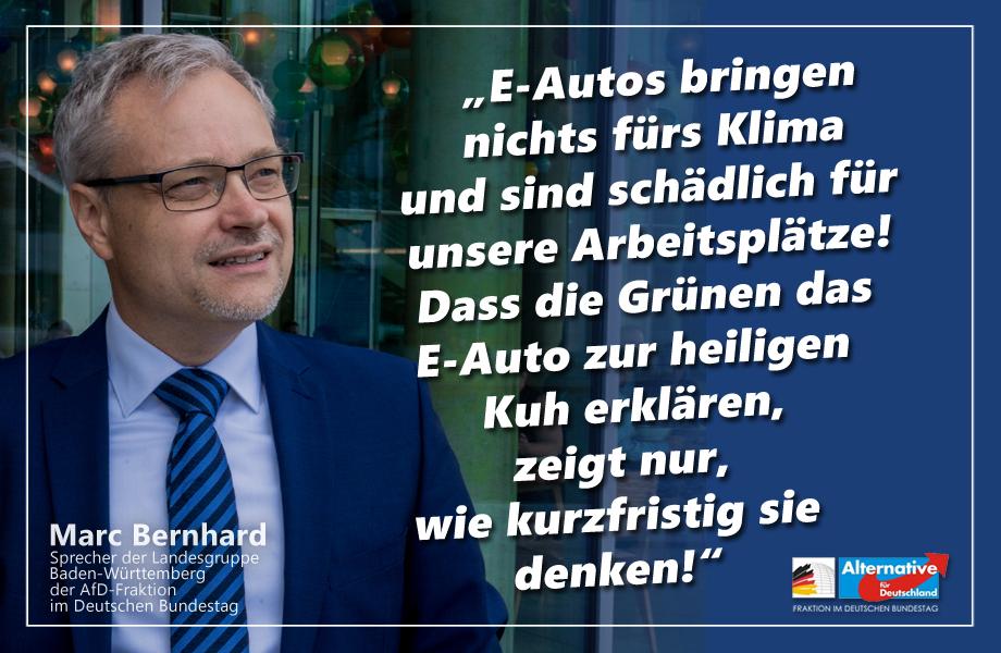 E-Autos bringen nichts fürs Klima und sind schädlich für unsere Arbeitsplätze!