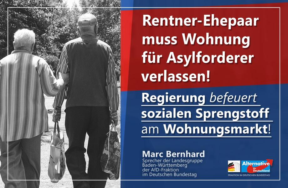 Rentner muss nach 25 Jahren Wohnung für Flüchtlinge räumen! Wir haben keinen Platz!