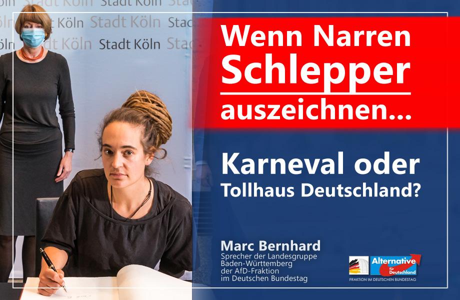Karneval-Witz oder Deutschland 2020? Schlepperin Carola Rackete erhält Karl-Küpper-Preis