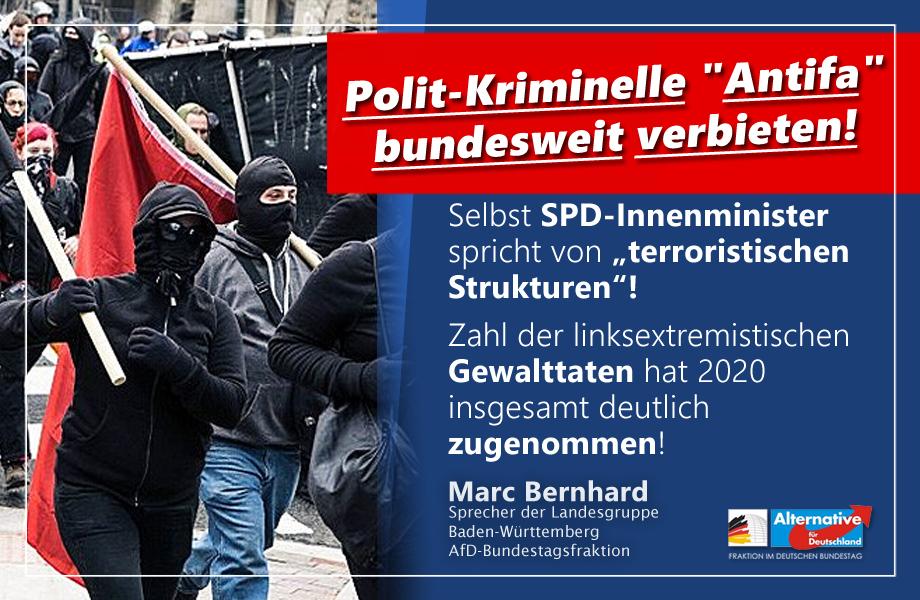 """Pistorius übernimmt AfD-Forderung - """"Antifa""""-Verbot auf Bundesebene auf den Weg bringen!"""