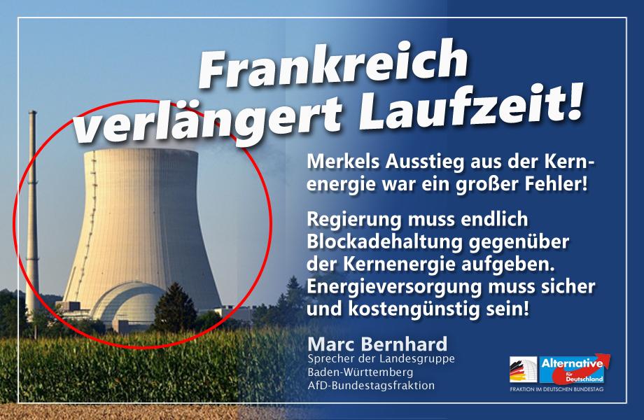 Frankreich verlängert Laufzeit von Kernenergie auf 50 Jahre